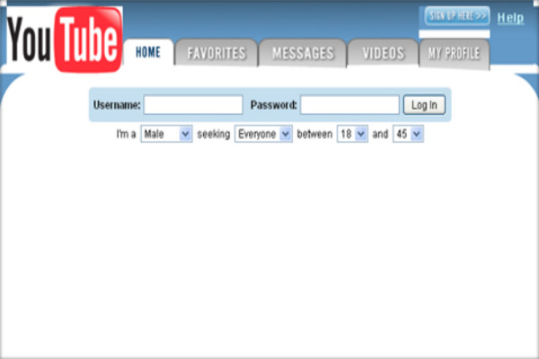 What YouTube looked like at launch.
