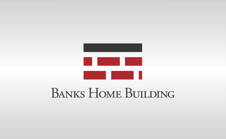 Huebris Banks Home Building Logo Design