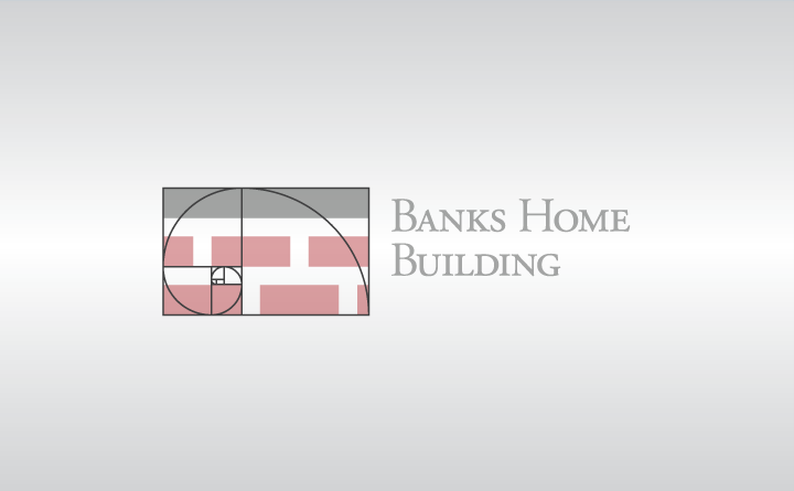 Golden ratio logo design by Birmingham, Alabama-based Huebris for Banks Home Building.