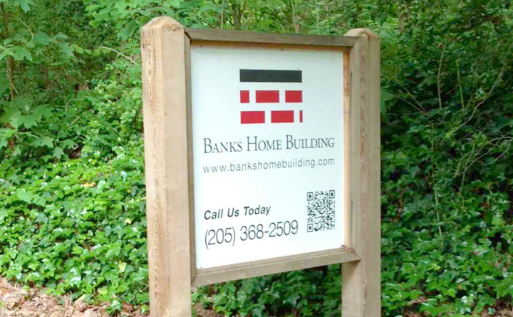 Signage printed for Banks Home Building