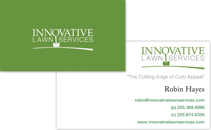Business Card Graphic Design for Innovative Lawn Services.