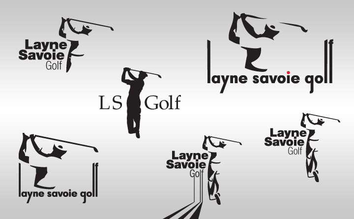 Logo design samples for Layne Savoie Golf by Birmingham, AL Huebris.
