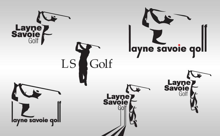 Logo design samples for Layne Savoie Golf by Birmingham, AL Huebris.
