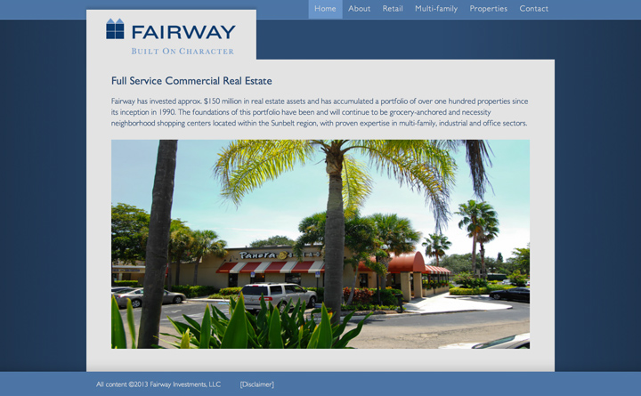 Mountain Brook, Alabama based Fairway Investments enlisted Huebris to develop a comprehensive portfolio website built on WordPress.